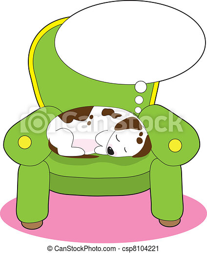 dog dreaming a contented dog is having a dream while vector rh canstockphoto ie boy dreaming clipart kid dreaming clipart
