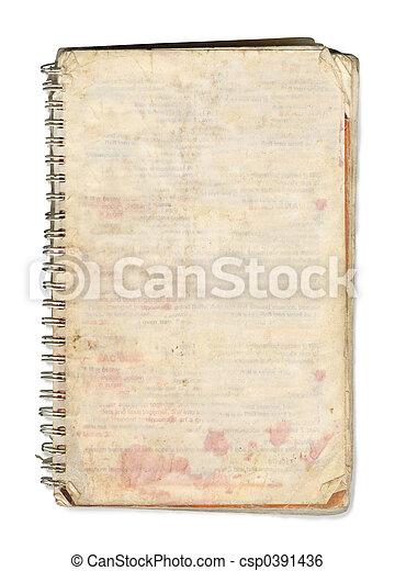 Dog-eared book - csp0391436