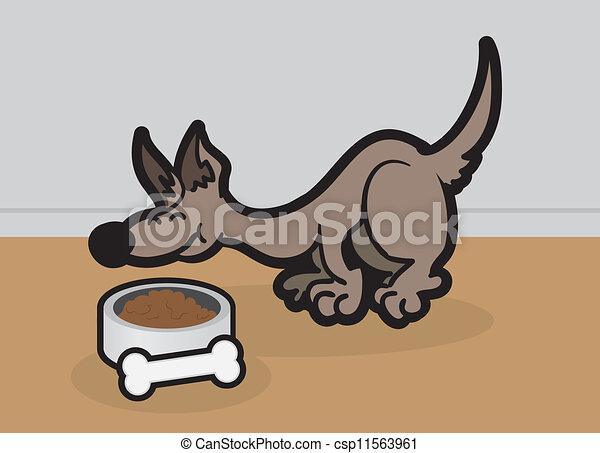 Dog Eating  - csp11563961