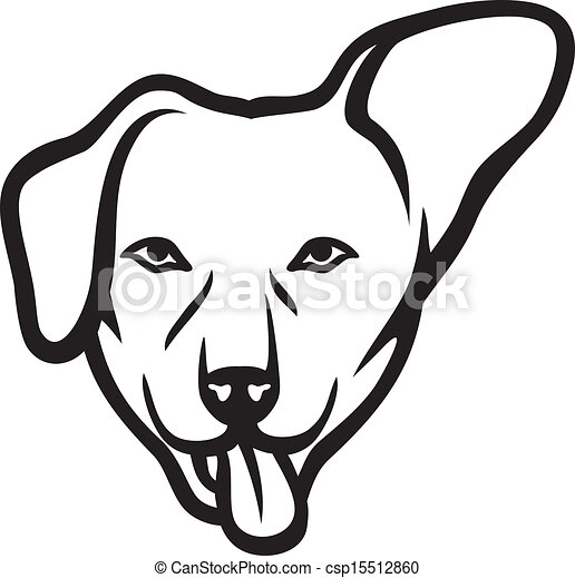 dog face clip art vector search drawings and graphics images rh canstockphoto com free dog face clipart dog face mask clipart