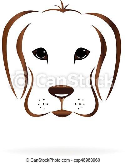 dog face logo dog face golden retriever logo vector image rh canstockphoto com bulldog face clipart dog face mask clipart