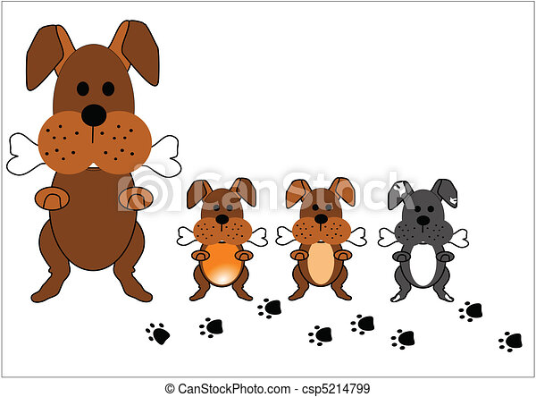 dog family - csp5214799