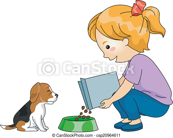 Dog Feeding - csp20964611