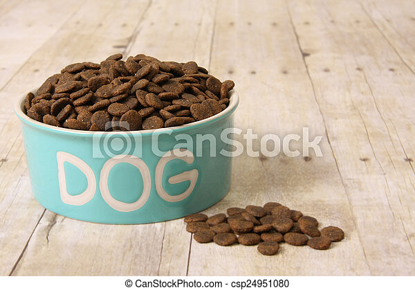 Dog food in a bowl. - csp24951080