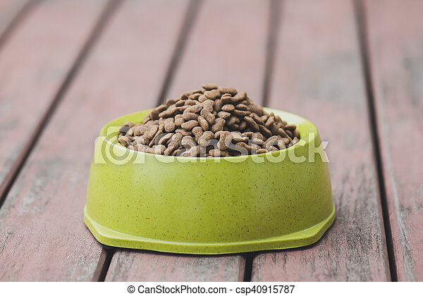 Dog food in a bowl - csp40915787