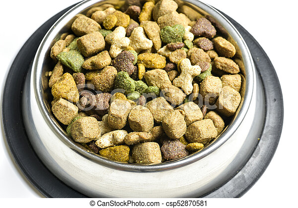 Dog-food in a bowl - csp52870581