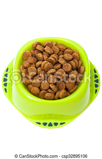 dog food in a bowl - csp32895106