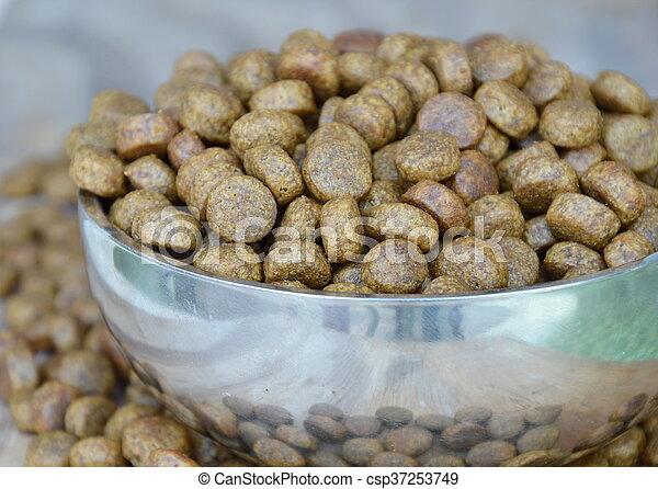 dog food in bowl - csp37253749