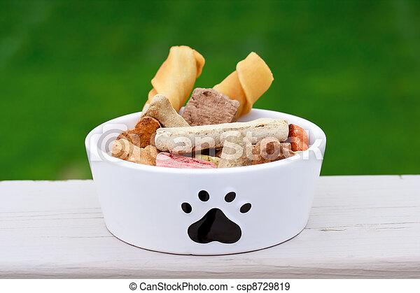 Dog food in dog bowl - csp8729819