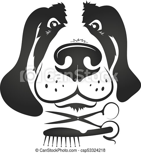 Dog Grooming Symbol For Business Grooming Dogs With Tool Symbol For
