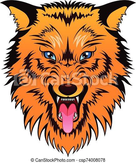 dog head mascot - csp74008078