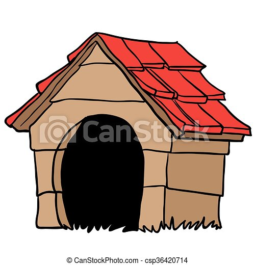 dog house cartoon rh canstockphoto com dog house clip art outline dog house clip art with dog