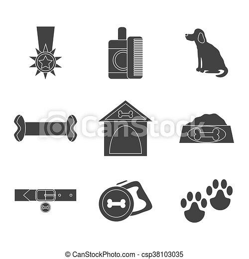 Dog icons set - csp38103035