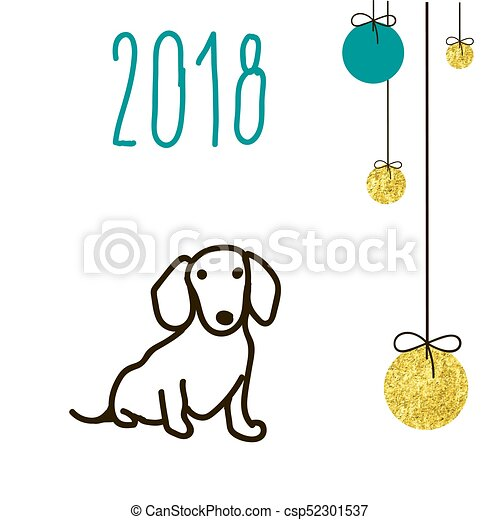 Dog Is A Symbol Of The 2018 Chinese New Year Design For Vectors