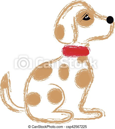 Dog on white background - csp42567225