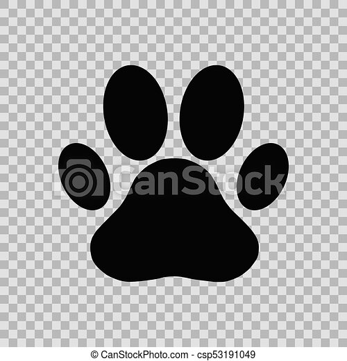 dog paw print isolated on chess background rh canstockphoto com Dog Paw Print Pattern Dog Paw Print Stencil