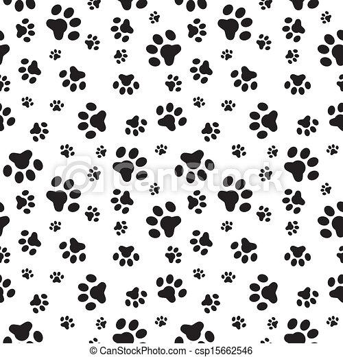 Black And White Paw Print Wallpaper
