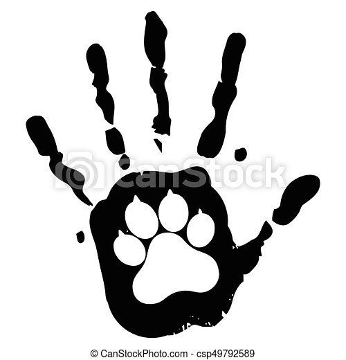 dog pet animal paw care logo template vector illustration concept
