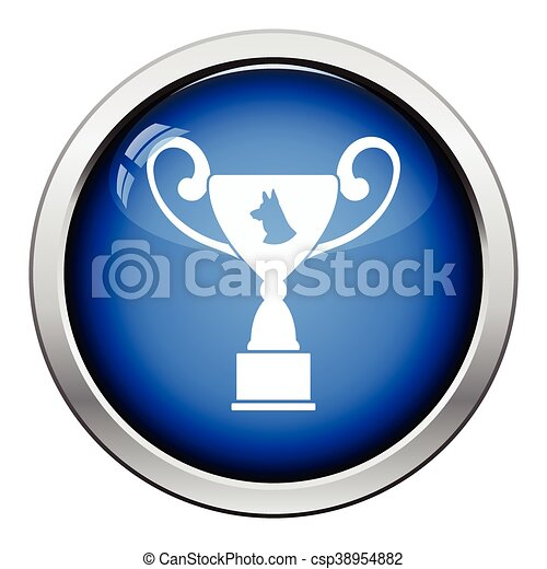 Dog prize cup icon - csp38954882