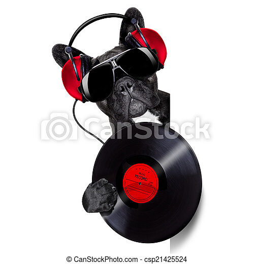 dog record vinyl - csp21425524