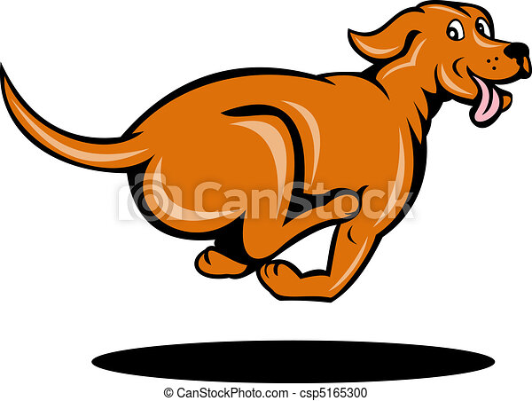 illustration of a dog running viewed from side rh canstockphoto com dog running clipart dog running clipart black and white