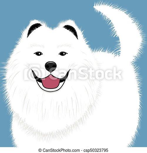 Dog Samoyed Buddy Puppy Vector Illustration