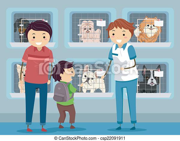 Dog Shelter Visit - csp22091911
