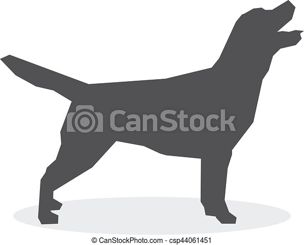 Dog silhouette on a white background. Vector illustration - csp44061451