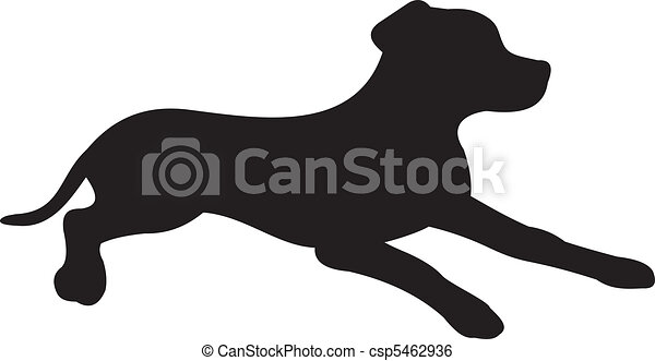 Dog silhouette vector - csp5462936