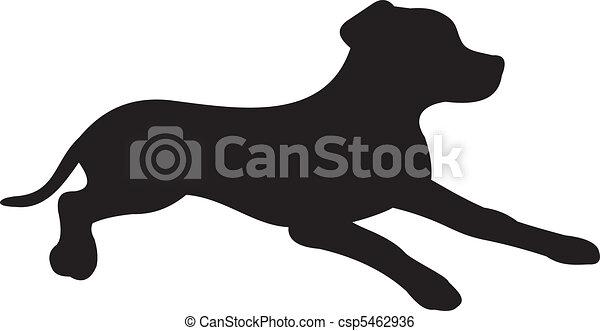 Dog silhouette vector - csp5462936