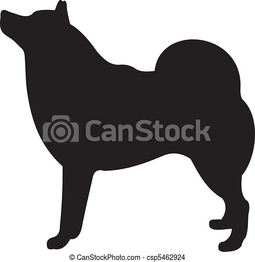 Dog silhouette vector - csp5462924