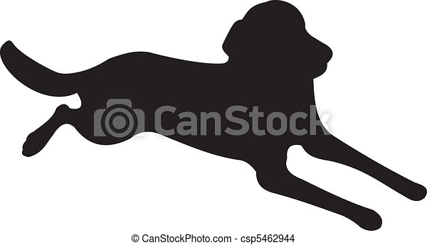 Dog silhouette vector - csp5462944