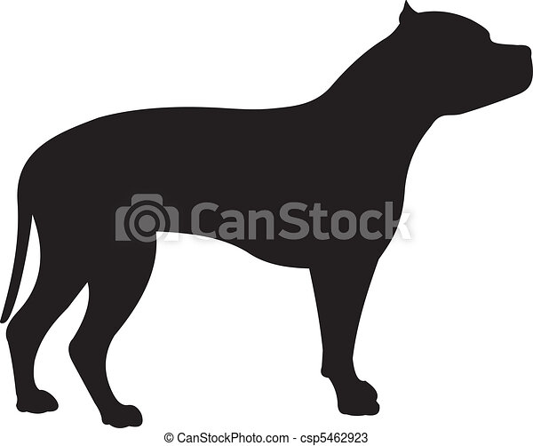 Dog silhouette vector - csp5462923