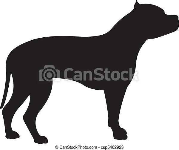 Dog silhouette vector - csp5462923