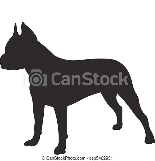 Dog silhouette vector - csp5462931