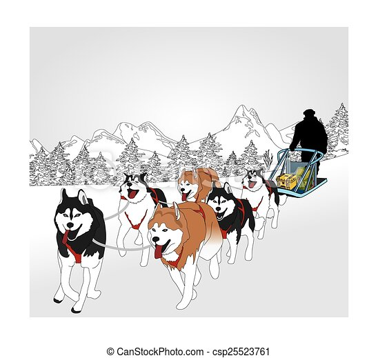 dog sledding clip art vector search drawings and graphics images rh canstockphoto com dog sledding clipart dog sled clipart