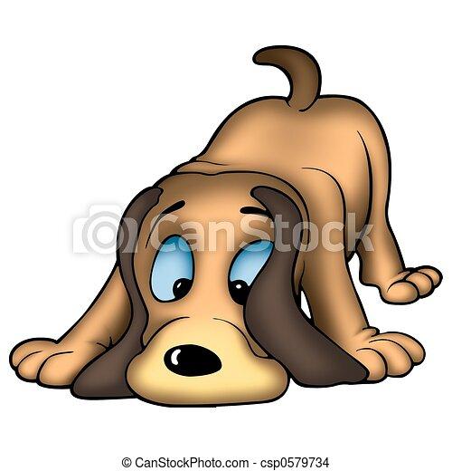 Dog sniffing - csp0579734