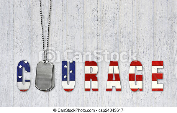 dog tags for courage - csp24043617