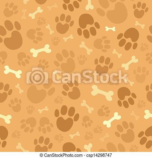 Dog theme seamless background 1 - csp14298747