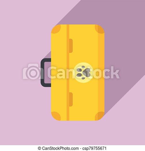 Dog tool box icon, flat style - csp79755671