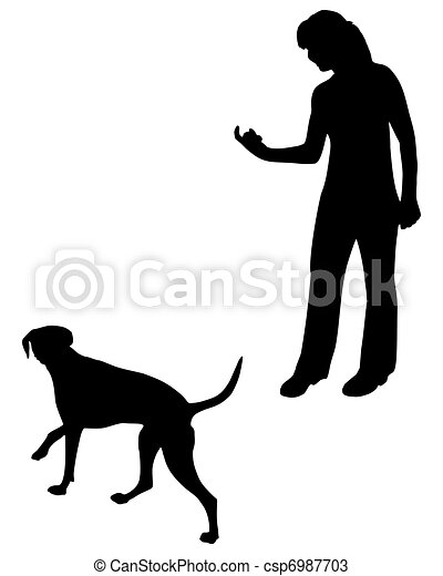 Dog Training (Obedience): Command: Come! - csp6987703