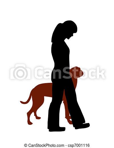 Dog training (obedience): command heel - csp7001116