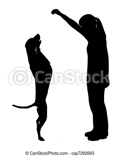 Dog training (obedience): command: up - csp7292693