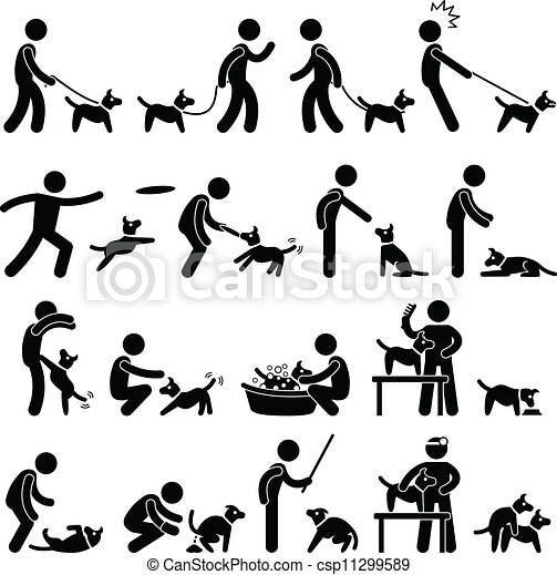 Dog Training Pictogram - csp11299589