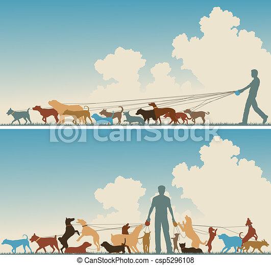 Dog walker - csp5296108