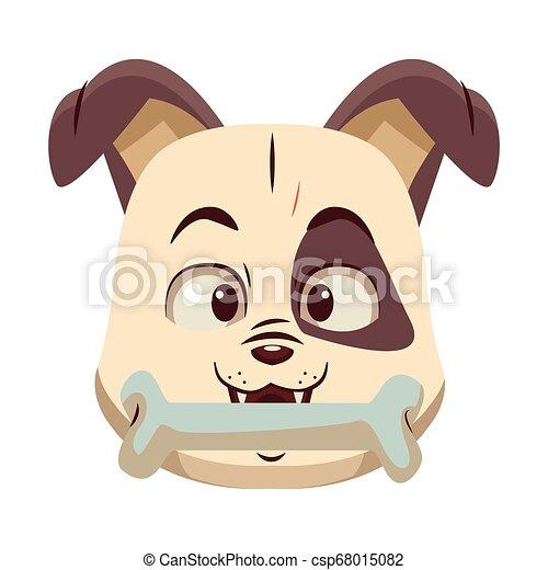 Dog with bone cartoon - csp68015082