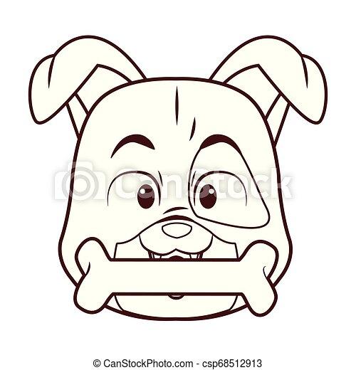 Dog with bone cartoon - csp68512913