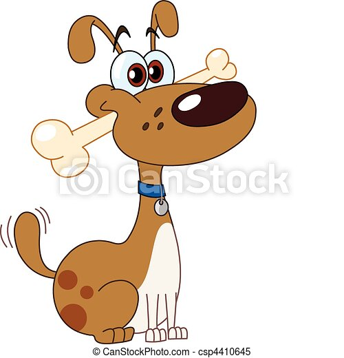 Dog with bone - csp4410645