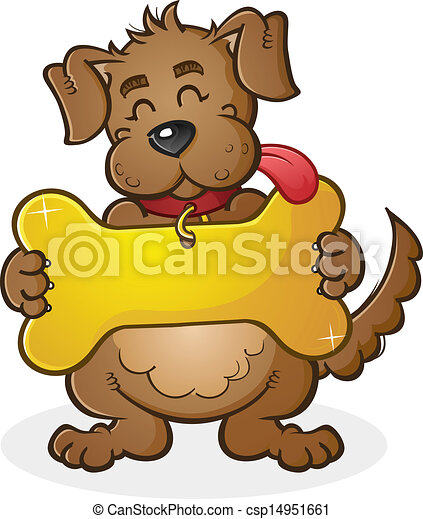 Dog with Giant Collar Tag Sign Cart - csp14951661