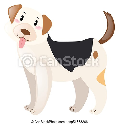 Dog with happy face - csp51588266
